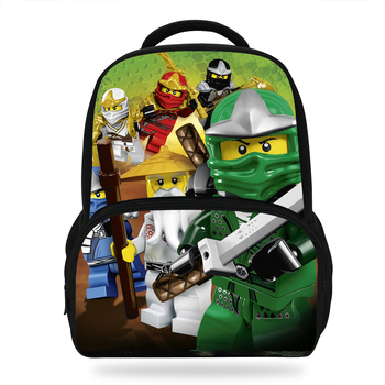 14inch Cute Mochila Ninjago Bag School For Boys Bookbag Kids Backpack Cartoon Kungfu Children Bag For Girls Infantil Menina