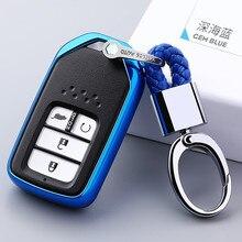 For Honda Hrv Civic 2017 Accord 2003-2007 Cr-v Freed Pilot  New Soft TPU Car Key Cover Case Car Styling Keychain Holder soft tpu car key case cover keychain for toyota avalon 8 camry 2019 levin ioza chr