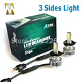 3 Lados LED Faróis Do Carro H4 H4 Alta Médios Faróis Lâmpadas 36 W 12 V Hi Lo Cabeça Lâmpadas Fonte de luz Do Carro H4 6000 k Branco amarelo