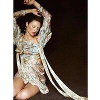 Sale Bohemia Runway High Quality Print Sexy Mini Silk Dress Beach Holiday Premium Dress