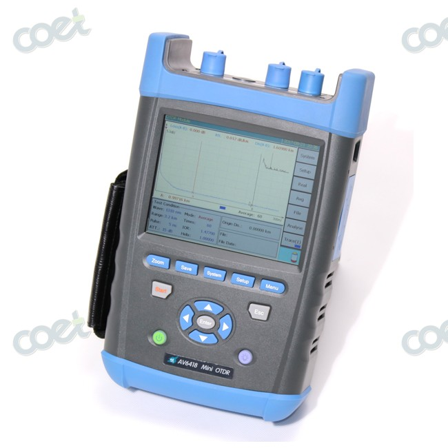 Fiber Optical OTDR AV6418 1310/1550nm 45/43dB OTDR Tester <1m Event Dead Zone Free Shipping by FedexFiber Optical OTDR AV6418 1310/1550nm 45/43dB OTDR Tester <1m Event Dead Zone Free Shipping by Fedex