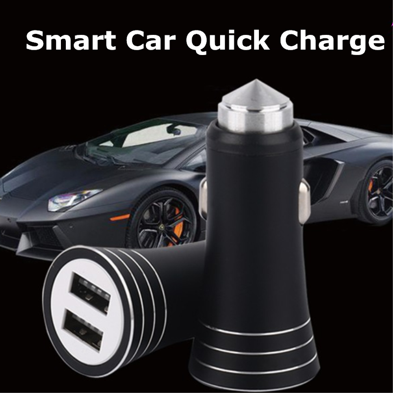 Quick Charge 2 0 5V 2A Universal Usb Car Charger For Mobile Phone MINI 2 USB Ports Travel Car Chargers For Samsung Huawei Xiaomi in Car Chargers from Cellphones Telecommunications