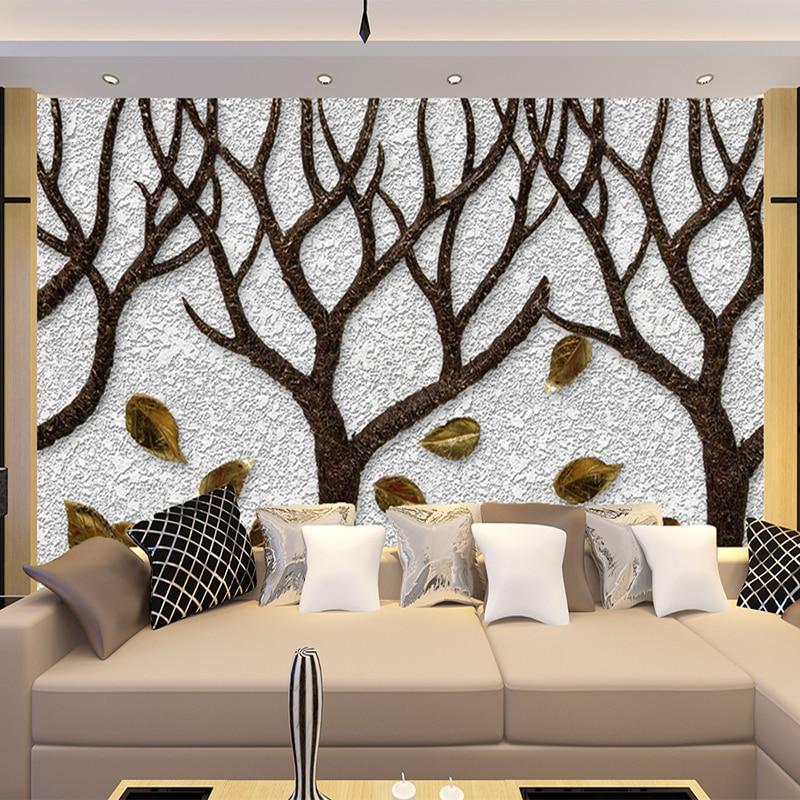Ausdauernd Tapeten Foto Zimmer Benutzerdefinierte Wandbild Vlies Wand Aufkleber Baum Stamm 3d Gedruckt Schlafzimmer Tv Malerei Foto Tapete Für Wände