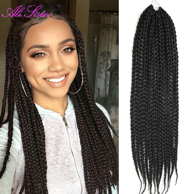 "long 24"" soft box braids hair crochet hair extensions box ..."