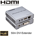 HDMI 1.4a DVI Extender Up to 50m with Loop-out cat-5E/6  DVI Transmitter and Receiver Support 3D,EDID,1080p/60Hz With IR control