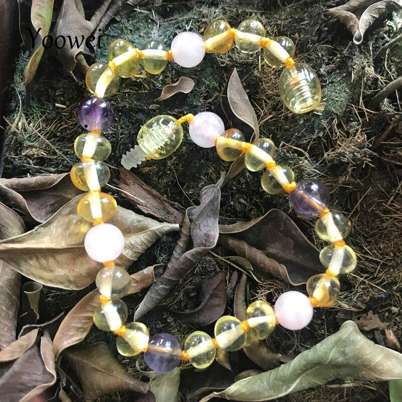 Yoowei 12 видов стилей новые детские янтарные украшения индивидуальные натуральный драгоценный камень Балтийский взрослых красотка Эмбер про...