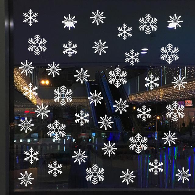 38 sztuk partia snowflake naklejki elektrostatyczne okno dzieci pokój świąteczne naklejki ścienne naklejki domu dekoracji nowy rok tapety tanie i dobre opinie HonC Jednoczęściowy pakiet None Naklejka ścienna samolot Klasyczny Meble Naklejki Naklejki okienne Na ścianie WALL Festival