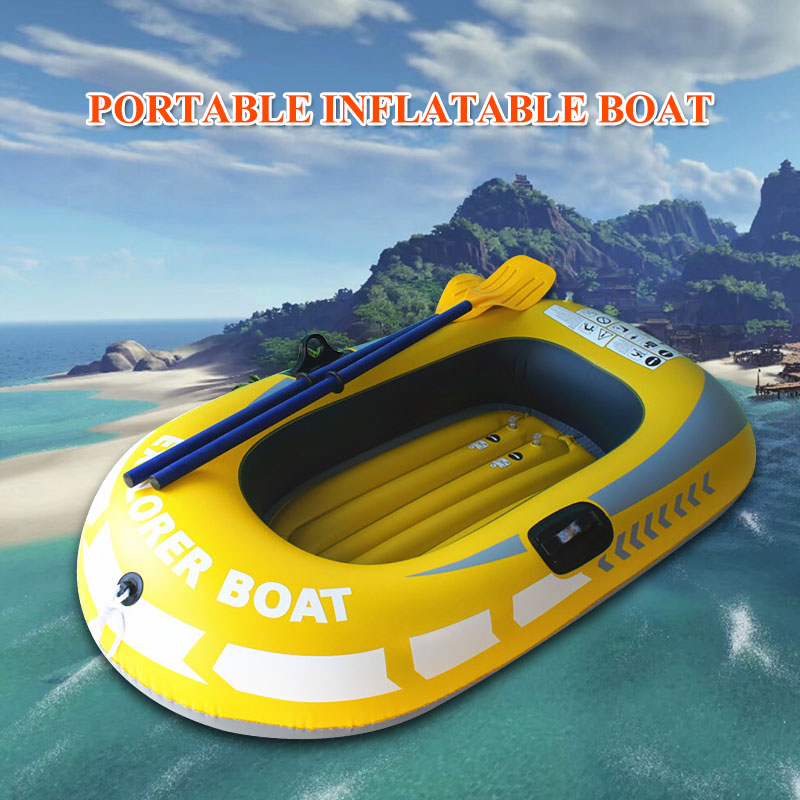 Kayak individuel professionnel Sport outils en caoutchouc bateau gonflable pratique PVC en plein air canot
