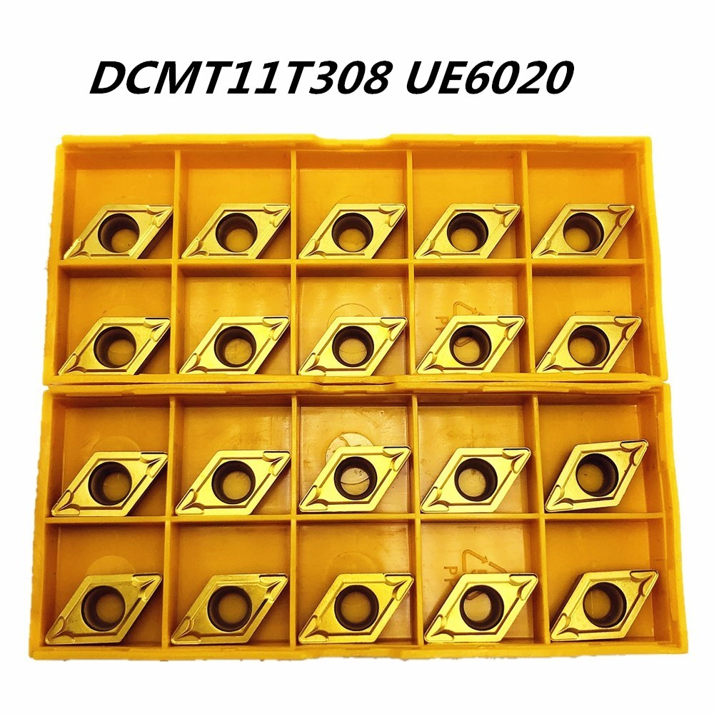10PCS Lathe Tool DCMT11T308 DCMT32.52 UE6020 Outer Metal Turning Tool Carbide Milling Tool DCMT11T308 CNC Product Lathe Tool