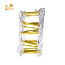 Высокопрочный материал 5 метров 17FTNew продукт безопасности высокопрочная нейлоновая спасательная веревочная лестница
