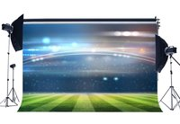 Football Field Backdrop Indoor Stadium Bokeh Stage Lights Green Grass Meadow Sports Match School Game Background