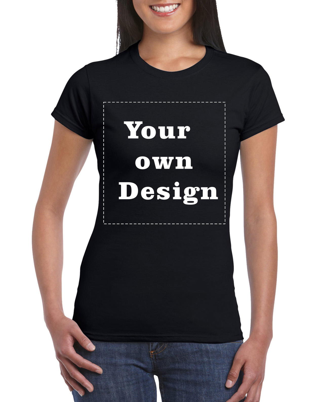 Design your own t shirt good quality - 2016 Women Black Your Own Design T Shirt Novelty Tops Lady Custom Printed Short Sleeve Tees
