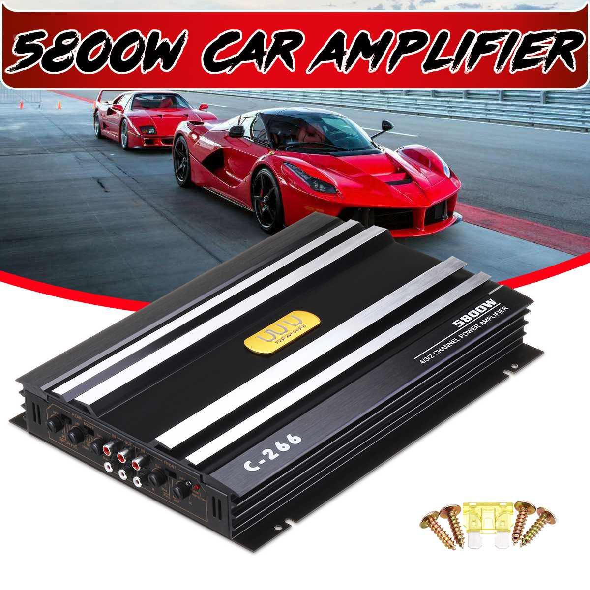DC 12V 5800 Watt 4-Channel Car Amplifier Audio Stereo Bass Speaker Car Audio Amplifiers Subwoofer Car Audio Amplifiers