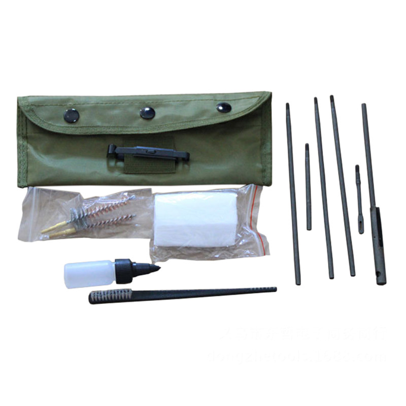 10 peças Haste Nylon Pincel Limpo Arma Acessórios Ferramentas Limpas Portátil 22 22LR. 223 556 Limpeza Rifle Kit de Limpeza De Arma Set 2017