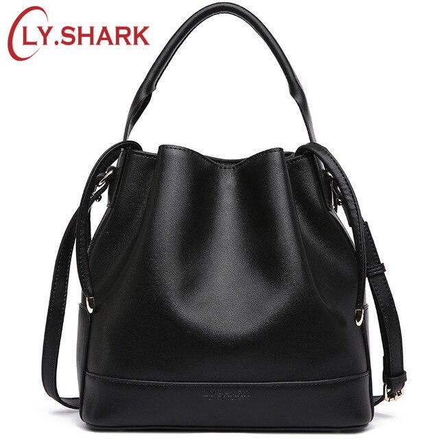 LY. Rekina marka luksusowe torebki damskie torby projektant Crossbody torby dla kobiet Messenger torby torba z prawdziwej skóry torba na ramię wiadro w Torebki na ramię od Bagaże i torby na  Grupa 1