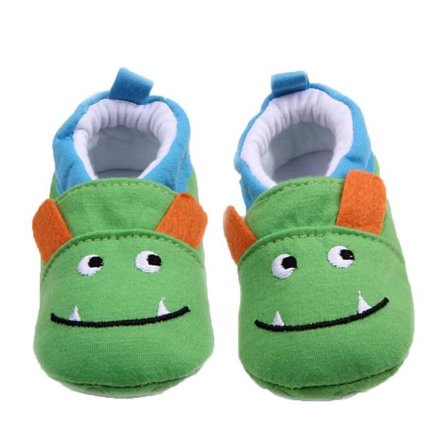 f39831acdd7e Brand Baby Boy Shoes Cute Monster Cartoon Animal Newborn First Walkers  Infant Prewalker Toddler Footwear Child Slippers for Kids