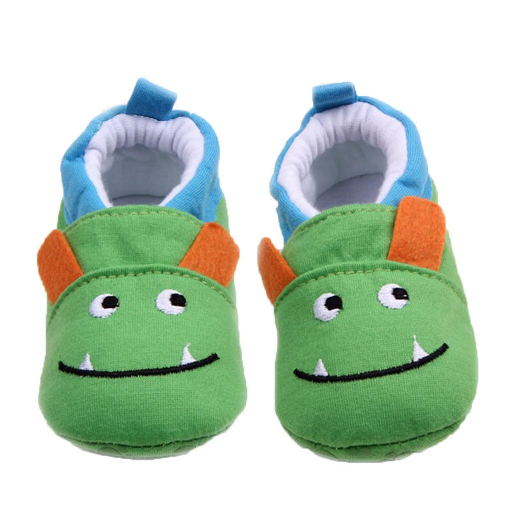 Brand Baby Boy Shoes Cute Monster Cartoon Animal Newborn First Walkers Infant Prewalker Toddler Footwear Child Slippers for Kids