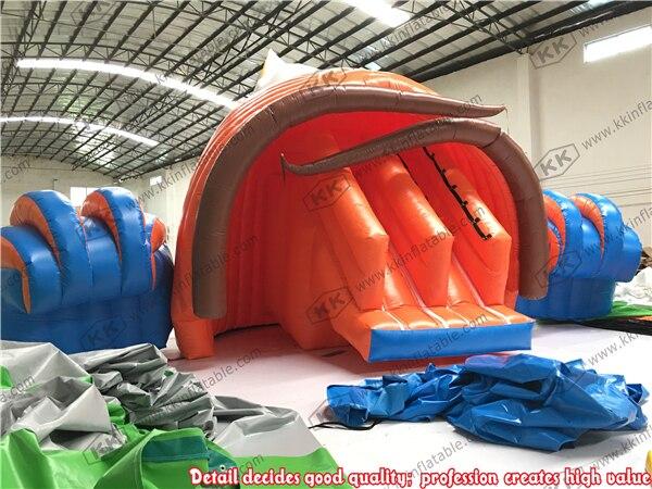 Раковину воды надувные слайд для аквапарка Направляющие играть в игры ...