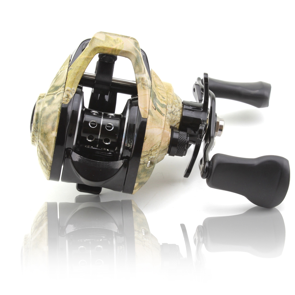 NEW 13BB Baitcasting Fishing Reel Fishing Wheel Bait camouflage Casting Reel Travel Fishing Tackle in Fishing Reels from Sports Entertainment