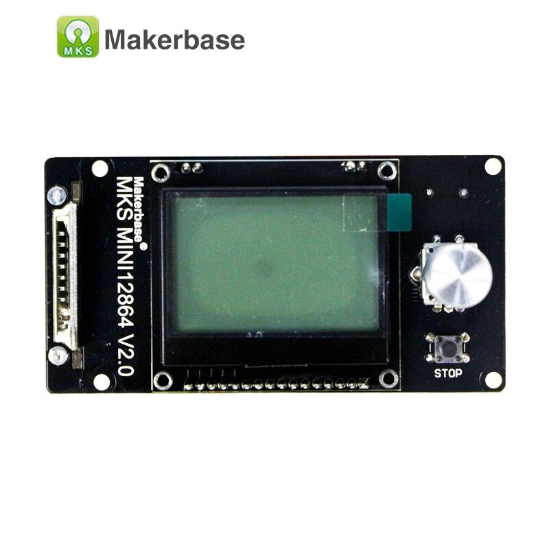 3d impresora pantalla LCD Reprap MKS MINI12864LCD mini 12864 pantalla inteligente Reprapdiscount Controlador gráfico completo para la placa madre