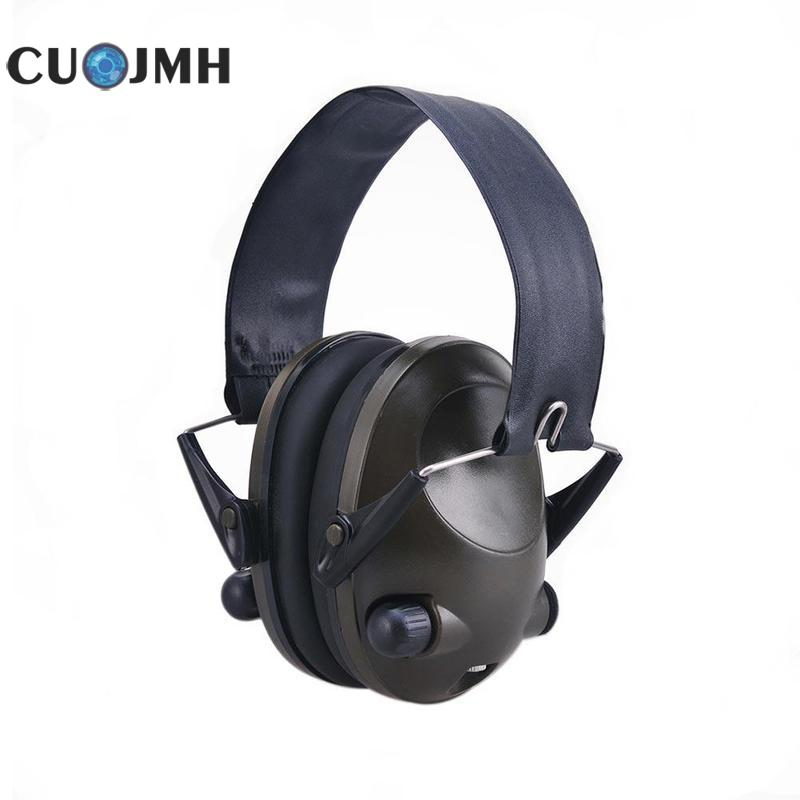TAC 6s Military Intelligent Earmuffs Hunting Shooting Tactical Headphones With Battery Connection Wire Ear Protection Tools leshp tactical sport headphones for hunting shooting sport noise tac 6s hearing protector earmuffs folding protection