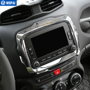 Image 2 - MOPAI Car Center GPS Navigation Decoration Frame Cover Interior Stickers Accessories for Jeep Renegade 2015 2017 Car Styling