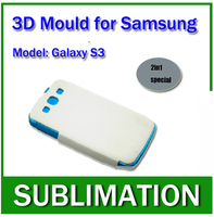 Solid Aluminium Alloy 3D Sublimation Phone Case Mould For Samsung Galaxy S3 2in1 Special Mould