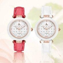 Women's Crystal Girl Quartz Hardlex Watches Genuine Watchband Gold Silver Wristwatch with Gift Box