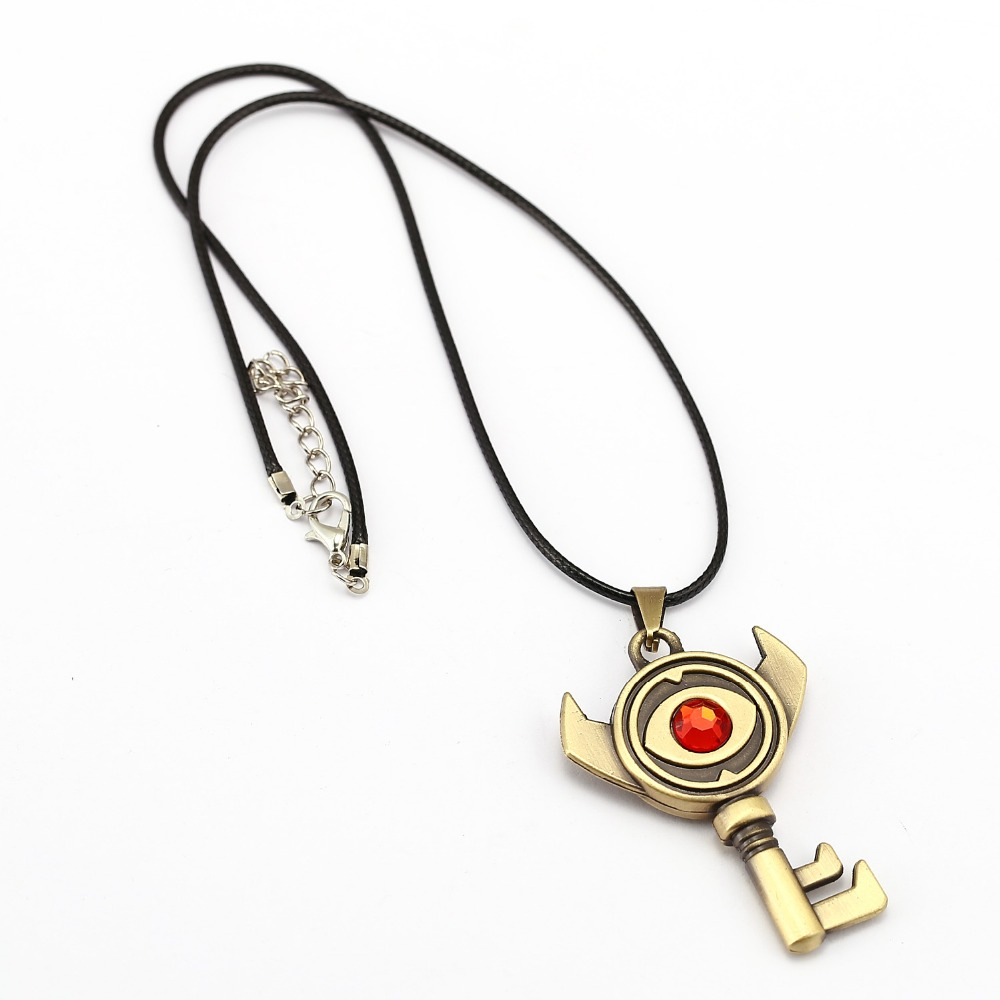 The Legend of Zelda Necklace 3 style Evil eye Key Pendant friendship - Mode-sieraden