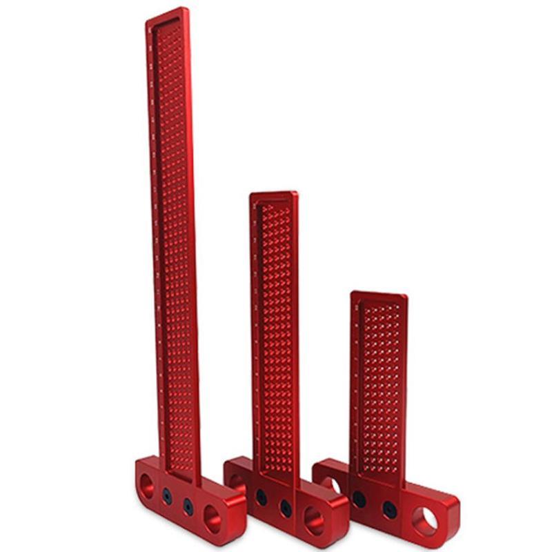 Woodworking Scriber T type Crossed Ruler Hole Scribing Aluminum Alloy Mark Line Carpenter Gauge Measuring Tool Wear Resistant
