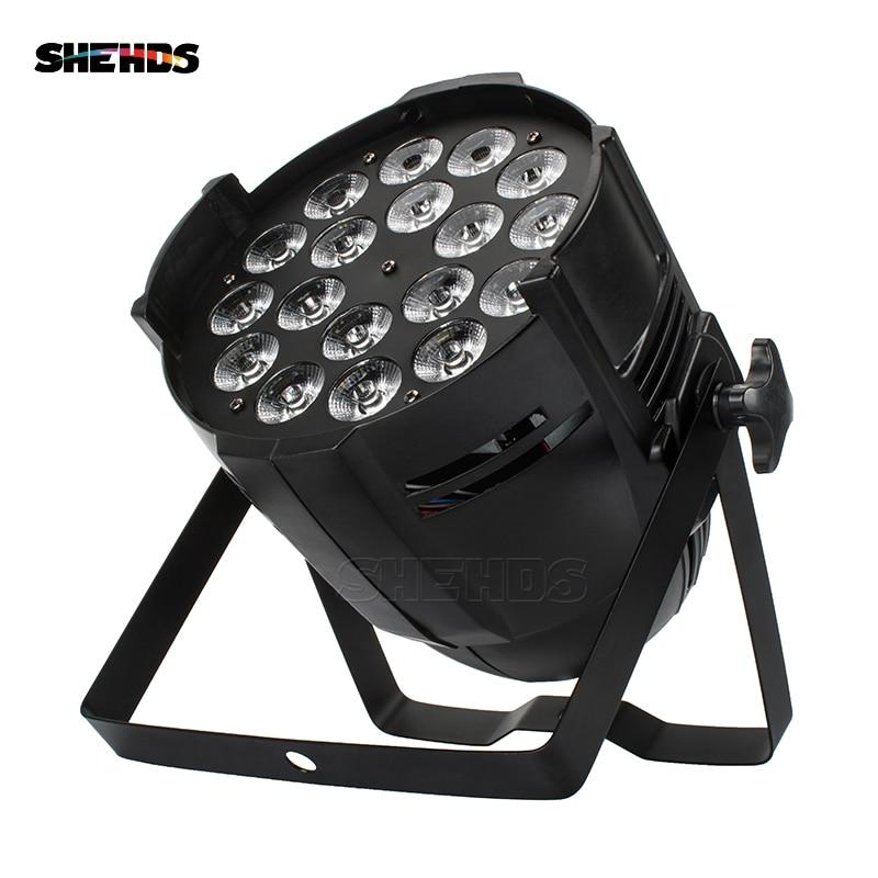 Алюминиевый сплав светодио дный LED Par 18 Вт 18 RGBWA + УФ освещение светодио дный LED Par может Световой прожектор Dj диско проектор стирка освещение с...