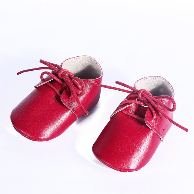 Wholesale Baby moccasins Genuine Leather Baby shoes Soft bottomToddler lace-up bebe Shoes First Walkers