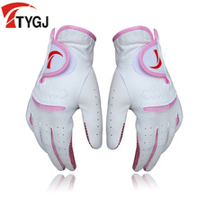 TTYGJ women's genuine leather golf gloves TY152 Free shipping Hot brand in China