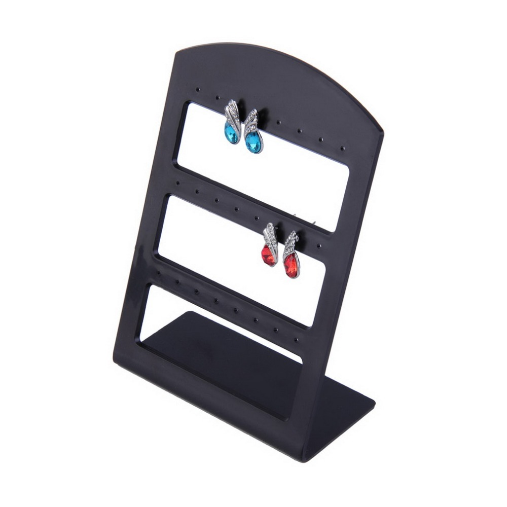 Hot Worldwide 24 Holes Plastic Earring Show Display Rack Countertop Stand Organizer Hold ...