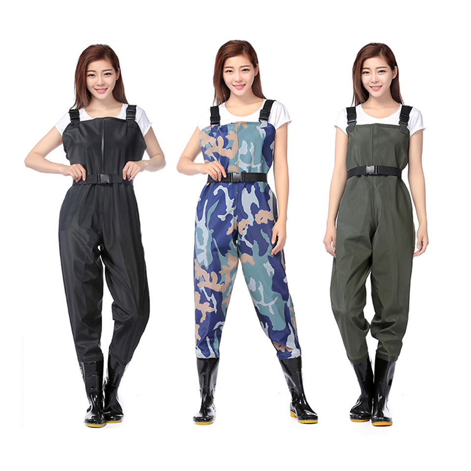 Fly Fishing Clothes Waders Outdoor Hunting Wading Pants And Shoes Aqua Sneakers Overalls Rubber Sole Fishing Boots Rock Shoes F8
