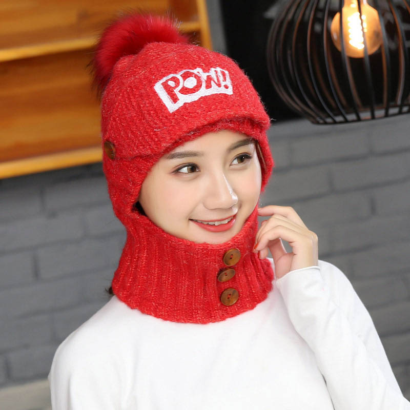 Women Lady Hat Knitting Cap Ear Neck Warm Elasticity For Winter Sport Outdoor Cycling -MX8