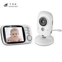 3.2 pulgadas video sin hilos color bebé Monitores Alta Resolución bebé niñera cámara de seguridad visión nocturna temperatura Monitores ING