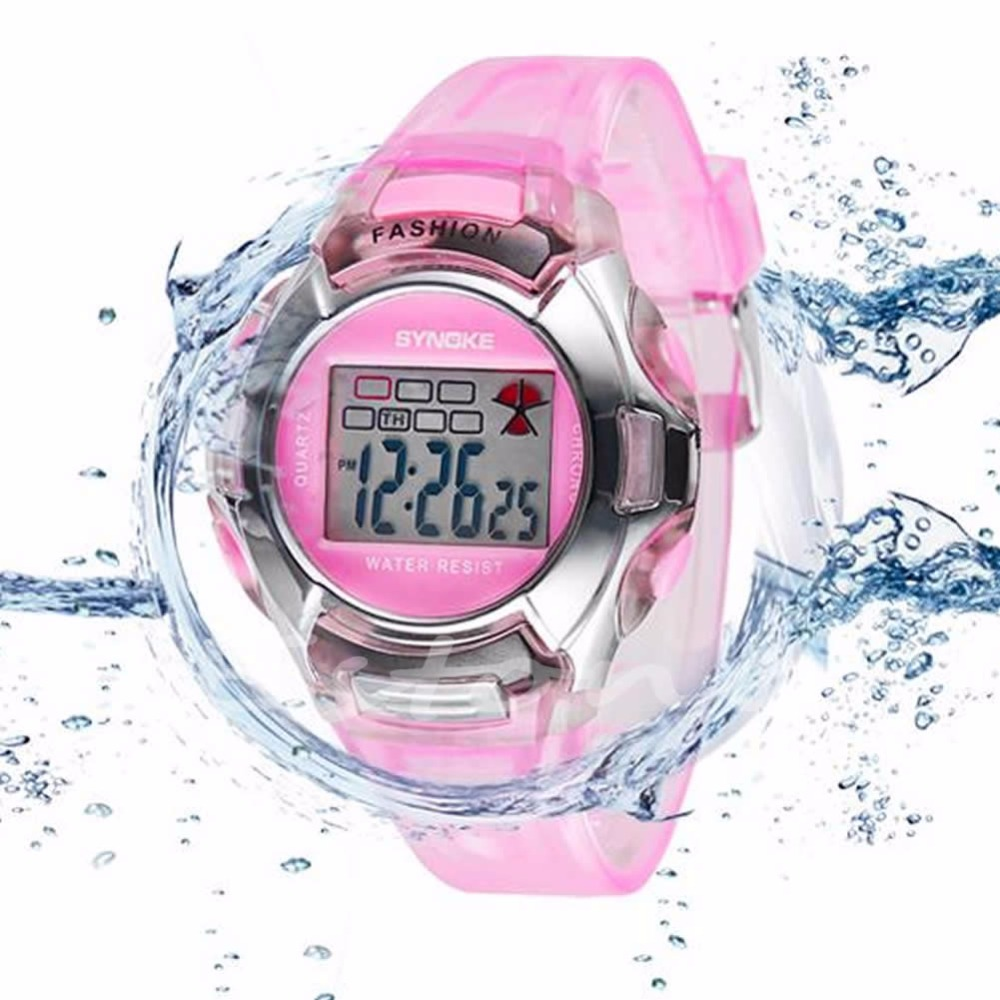 Men s Sports Watch Fashion LED Digital Quartz Wristwatches Multifunction Waterproof Shock Candy Colors For Child