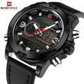 NAVIFORCE Top Marke Luxus Männer LED Sport Uhren männer Armee Military Lederband Armbanduhr Quarz Uhr Relogio Masculino