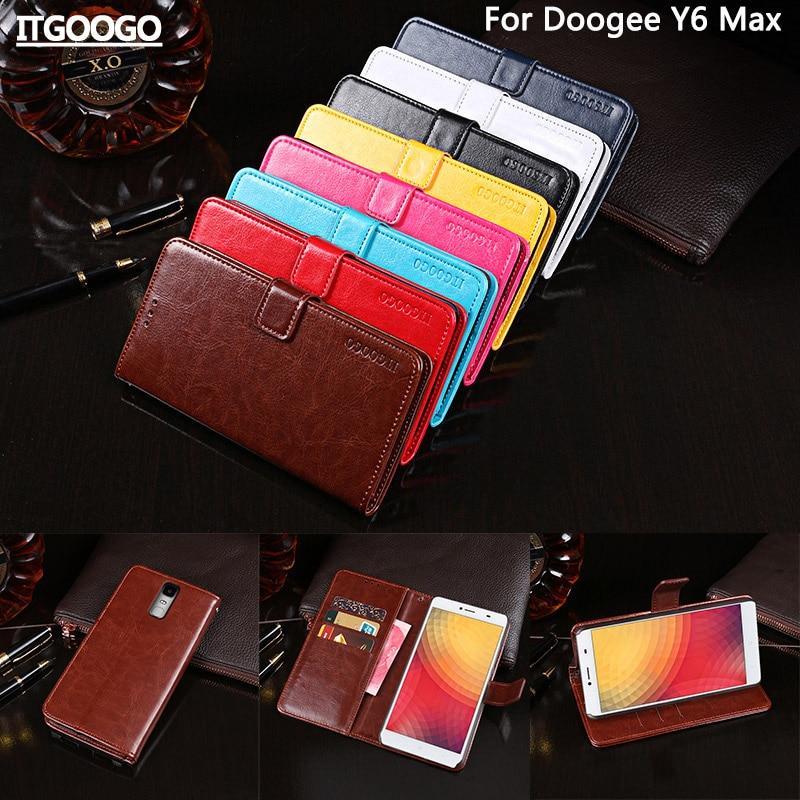 Itgoogo Pour Doogee Y6 Max Cas Couverture 6.5 Hight Qualité Flip Étui En Cuir Pour Doogee Y6 Max sac de Couverture de Téléphone
