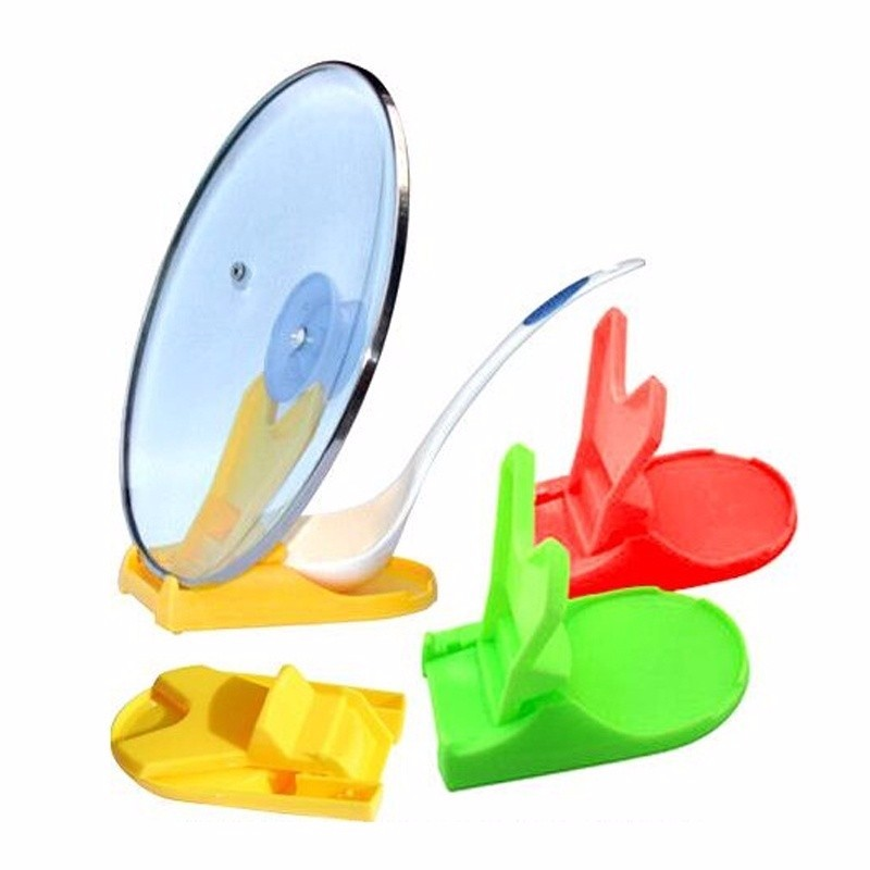 1pc Pot Lid Shelf Dispenser Pan Spoon Pot Holder Kitchen Storage Design Cooking Tool  (3)