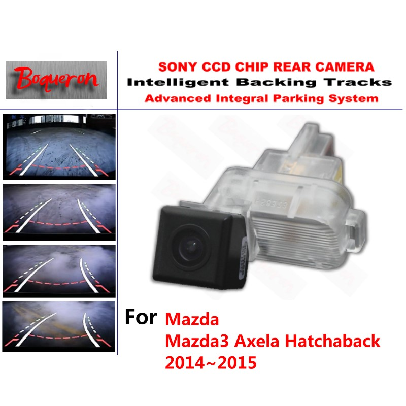 for Mazda 3 Mazda3 Axela Hatchaback 2014~2016 CCD Car Backup Parking Camera Intelligent Tracks Dynamic Guidance Rear View Camera for mazda 6 mazda6 atenza 2014 2015 ccd car backup parking camera intelligent tracks dynamic guidance rear view camera