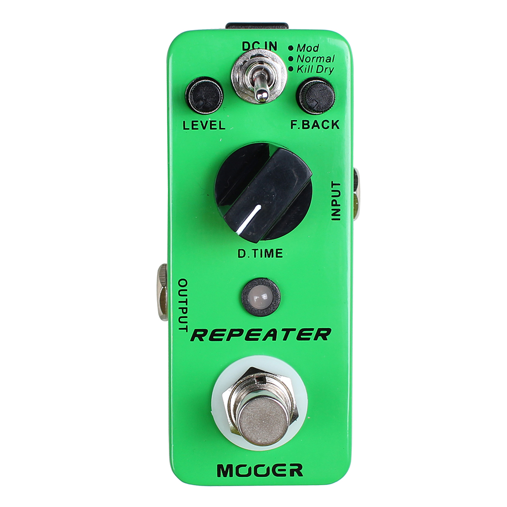 Mooer Repeater Digital Delay Guitar Effects Pedal True Bypass Mod Normal Kill Modes
