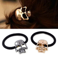 3 Colors Metal Punk Gothic Hair Bands Skull Hair Clip Gift Elastic Hair Bands acessorio para cabelo hair accessories for women
