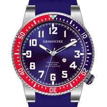 Reloj de Buceo profesional GRMONTRE Hombres de Cuarzo Reloj Deportivo relogio masculino Super luminiscencia verde Zafiro espejo De Goma