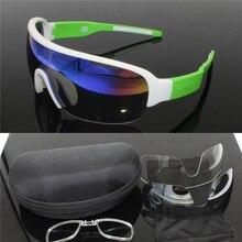 327c3317fd DO POC media hoja 2018 venta Ed. Ritte ciclismo gafas de sol 3 lentes  deporte carretera Mtb montaña bicicleta gafas