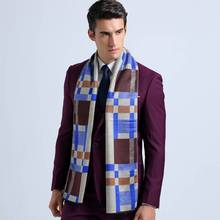 Fashion Tartan Scarf Men Business Scarves Winter Autumn Cotton Scarf Luxury Brand Sjaal YJWD354