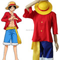 Free shiping ONE PIECE Monkey D Luffy  II generation costumes  Japanese anime cosplay Halloween costume