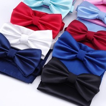 handkerchief bow tie hanky Sets Fashion 100% Silk Neckties Ties for mens gravata Wedding dress Party Business t-shirt Men