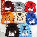 2016 Inverno Meninos Moda Dos Desenhos Animados do Tigre Animal Tampas Gorro Do Bebê Chapéus das Crianças Bonito Chapéu de Malha de Lã Quente Para As Crianças acessórios